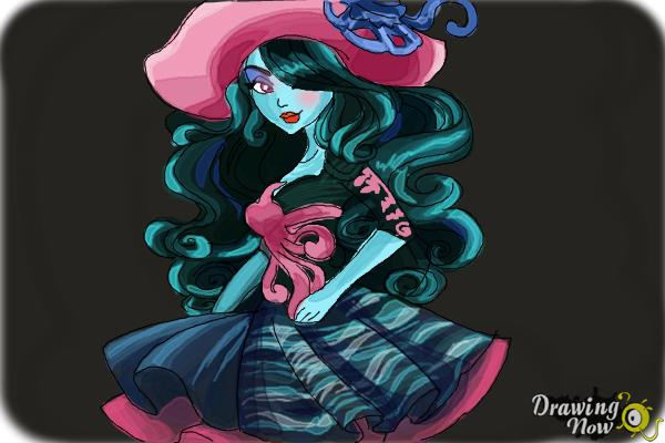 How to Draw Vandala Doubloons from Monster High - Step 11