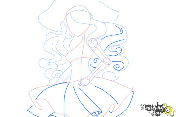 How to Draw Vandala Doubloons from Monster High - Step 7