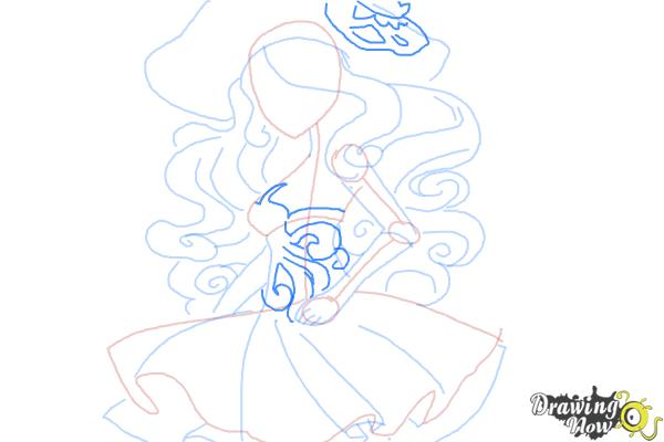 How to Draw Vandala Doubloons from Monster High - Step 8