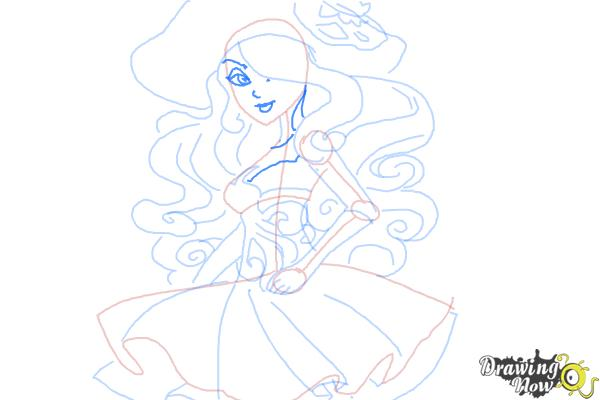 How to Draw Vandala Doubloons from Monster High - Step 9