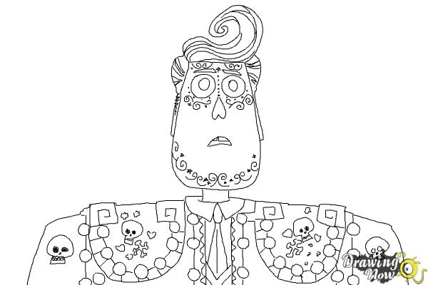 how to draw manolo from the book of life drawingnow