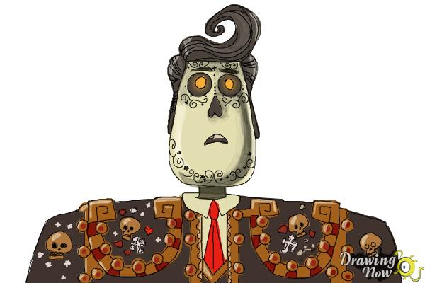 Character Design The Book Of Life : How to draw manolo from the book of life drawingnow