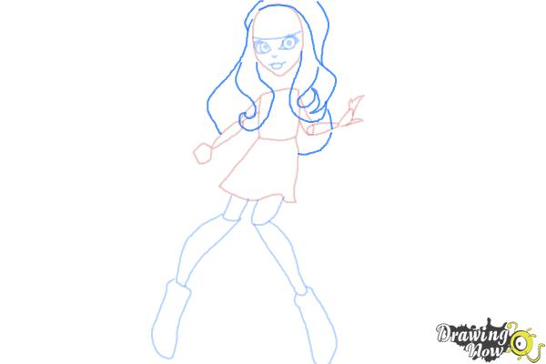 how to draw monster high step by step