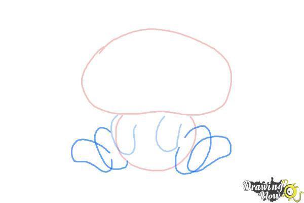 How to Draw Chibi Grumpy Cat - Step 3