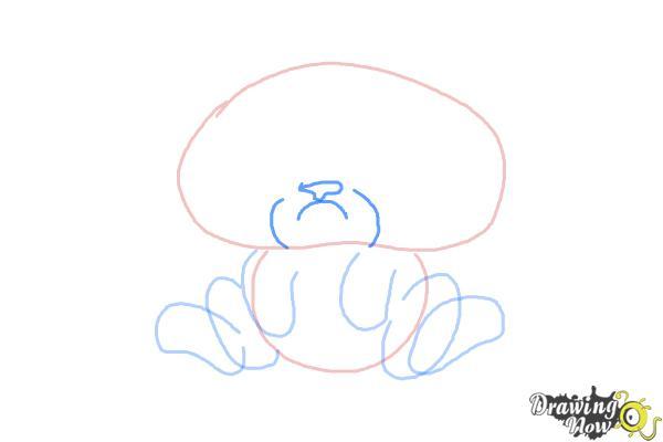 How to Draw Chibi Grumpy Cat - Step 4