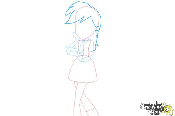 How to Draw Derpy from My Little Pony Equestria Girls - Step 7