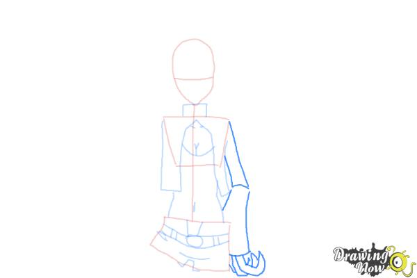 How to Draw Black★Gold Saw from Black★Rock Shooter - Step 6