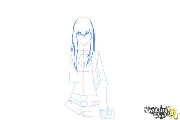 How to Draw Black★Gold Saw from Black★Rock Shooter - Step 7