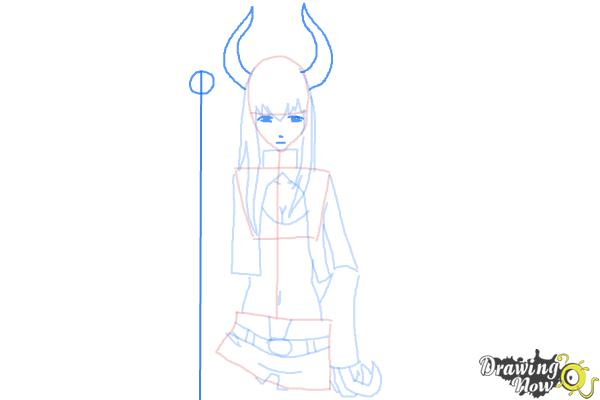 How to Draw Black★Gold Saw from Black★Rock Shooter - Step 8