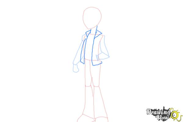 How to Draw Flash Sentry from My Little Pony Equestria Girls - Step 4