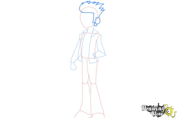 How to Draw Flash Sentry from My Little Pony Equestria Girls - Step 5