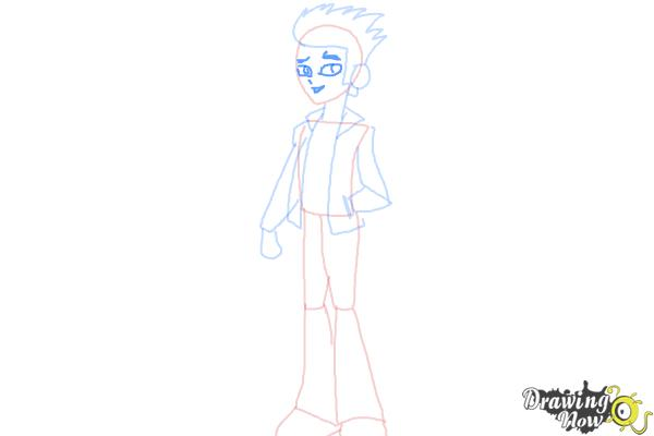 How to Draw Flash Sentry from My Little Pony Equestria Girls - Step 6