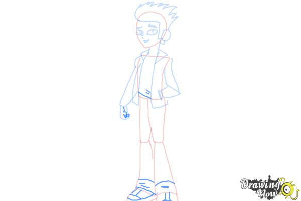 How to Draw Flash Sentry from My Little Pony Equestria Girls - Step 7