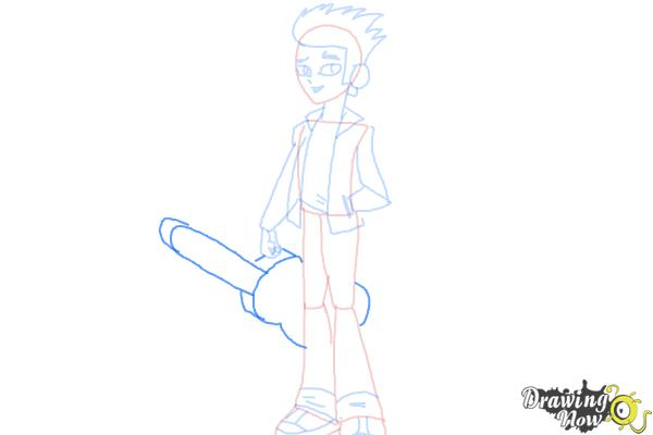 How to Draw Flash Sentry from My Little Pony Equestria Girls - Step 8