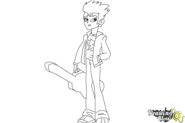 How to Draw Flash Sentry from My Little Pony Equestria Girls - Step 9