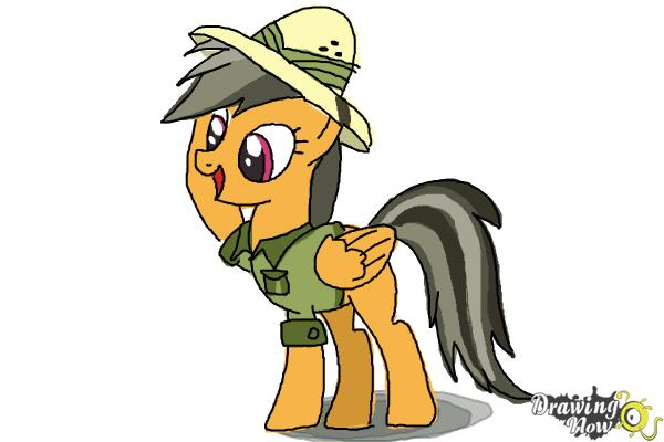 How to Draw Daring Do from My Little Pony Friendship Is Magic - Step 10