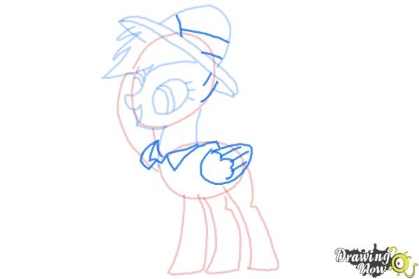 How to Draw Daring Do from My Little Pony Friendship Is Magic - Step 7