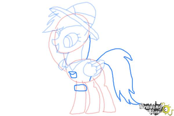 How to Draw Daring Do from My Little Pony Friendship Is Magic - Step 8