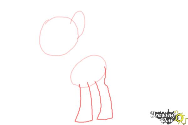 How to Draw Sweetie Drops, Bon Bon from My Little Pony Friendship Is Magic - Step 3