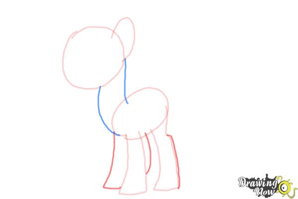 How to Draw Sweetie Drops, Bon Bon from My Little Pony Friendship Is Magic - Step 4