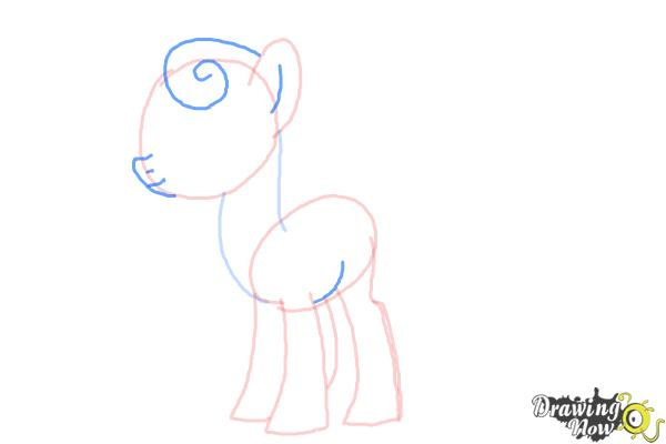 How to Draw Sweetie Drops, Bon Bon from My Little Pony Friendship Is Magic - Step 5