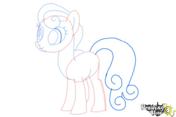 How to Draw Sweetie Drops, Bon Bon from My Little Pony Friendship Is Magic - Step 7