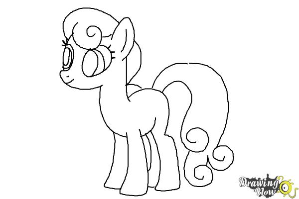 How to Draw Sweetie Drops, Bon Bon from My Little Pony Friendship Is Magic - Step 8