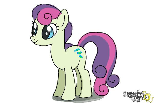 How to Draw Sweetie Drops, Bon Bon from My Little Pony Friendship Is Magic - Step 9