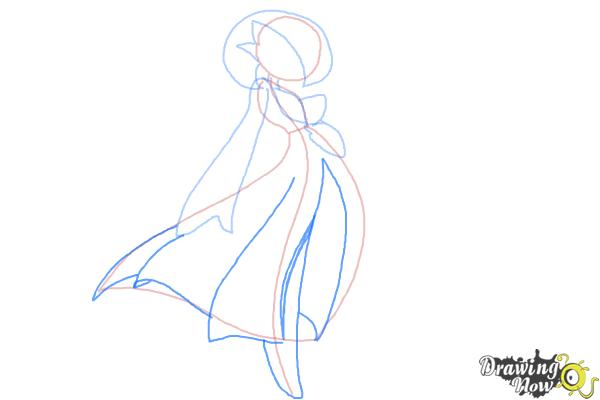 How to Draw Gardevoir from Pokemon - Step 6