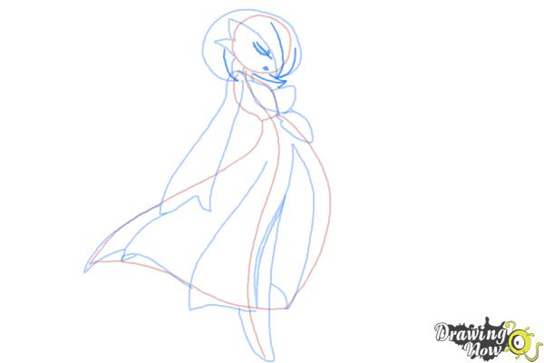 How to Draw Gardevoir from Pokemon - Step 7
