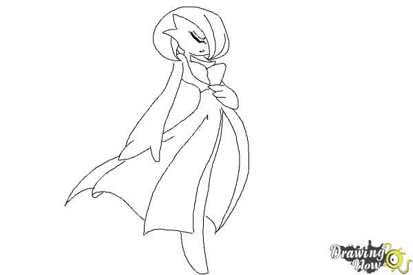 How to Draw Gardevoir from Pokemon - Step 8