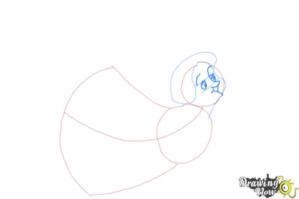 How to Draw Fauna from Sleeping Beauty - Step 4
