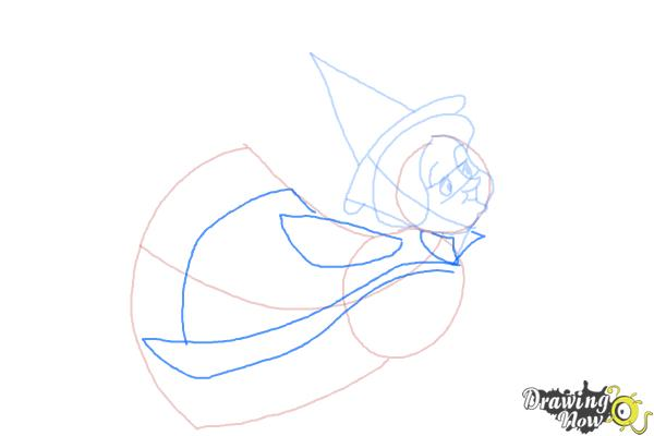 How to Draw Fauna from Sleeping Beauty - Step 6