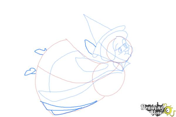 How to Draw Fauna from Sleeping Beauty - Step 7