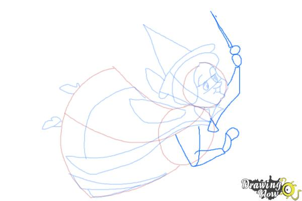 How to Draw Fauna from Sleeping Beauty - Step 8