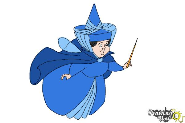 How to Draw Merryweather from Sleeping Beauty - Step 10