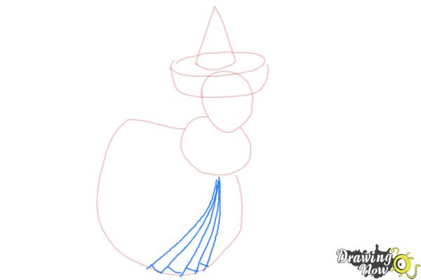 How to Draw Merryweather from Sleeping Beauty - Step 4