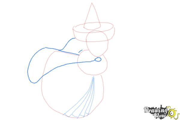 How to Draw Merryweather from Sleeping Beauty - Step 5