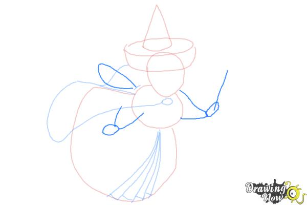How to Draw Merryweather from Sleeping Beauty - Step 6