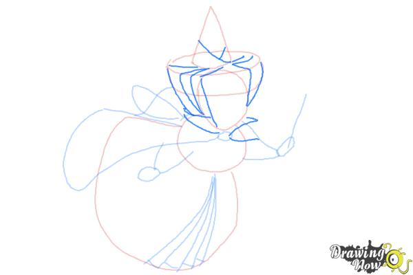 How to Draw Merryweather from Sleeping Beauty - Step 7
