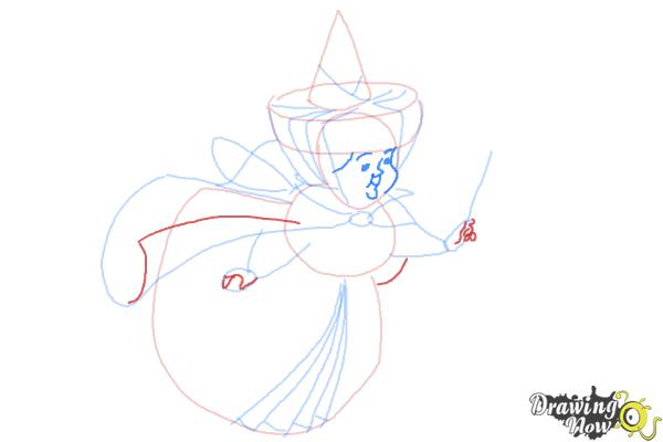 How to Draw Merryweather from Sleeping Beauty - Step 8