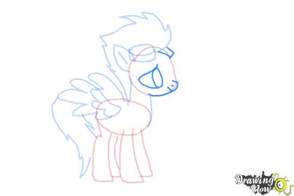 How to Draw Spitfire from My Little Pony Friendship Is Magic - Step 7