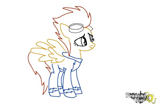 How to Draw Spitfire from My Little Pony Friendship Is Magic - Step 9