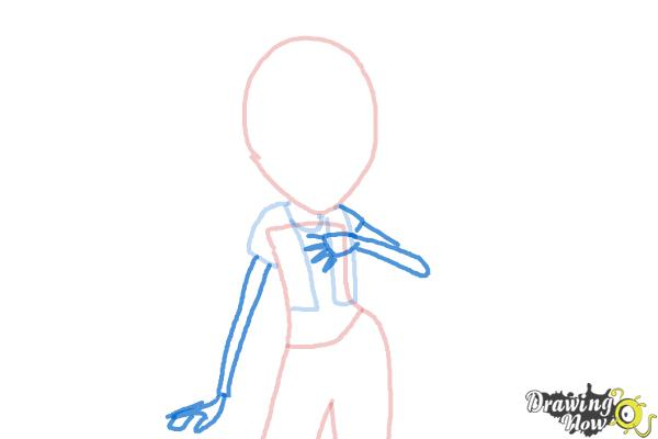 How to Draw Aria Blaze from My Little Pony Equestria Girls: Rainbow Rocks - Step 4