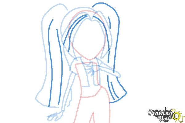 How to Draw Aria Blaze from My Little Pony Equestria Girls: Rainbow Rocks - Step 6