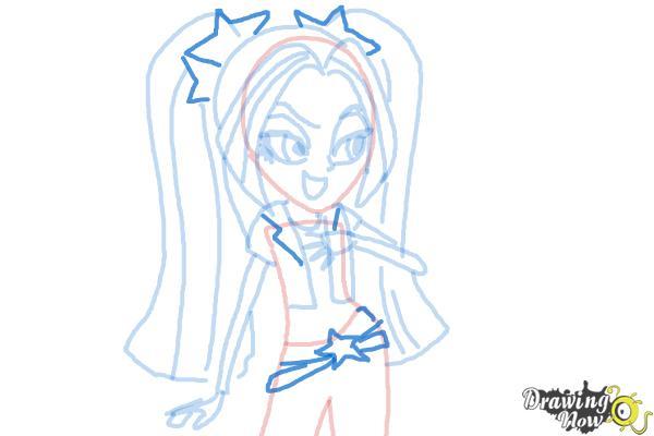 How to Draw Aria Blaze from My Little Pony Equestria Girls: Rainbow Rocks - Step 8