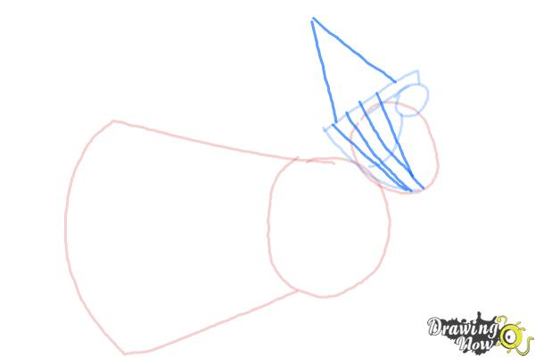 How to Draw Flora from Sleeping Beauty - Step 3