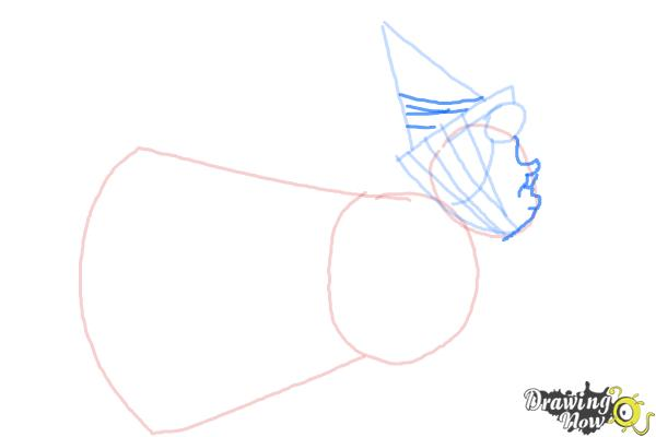 How to Draw Flora from Sleeping Beauty - Step 4