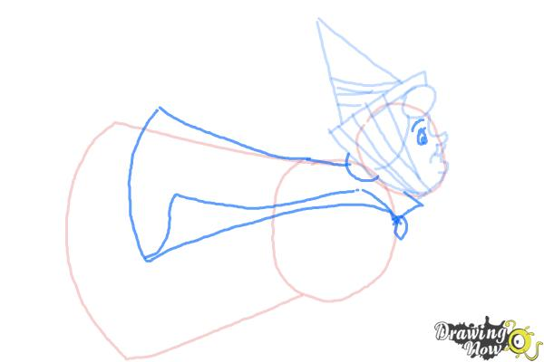How to Draw Flora from Sleeping Beauty - Step 5