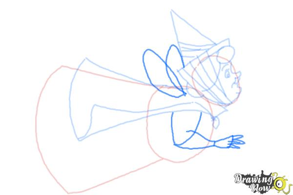 How to Draw Flora from Sleeping Beauty - Step 6